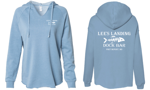 Lee's Landing Dock Bar Hoodie - Dusty Blue