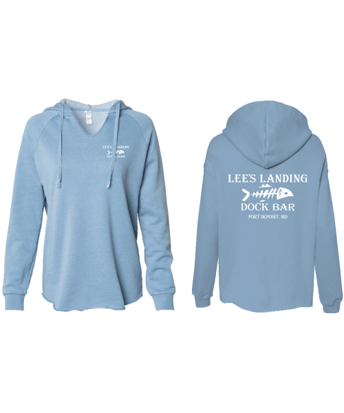 Lee's Landing Dock Bar Hoodie - Dusty Blue